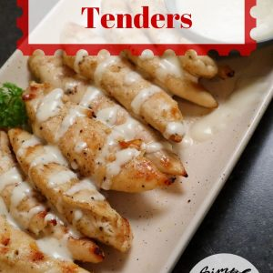 grilled tenders on a plate