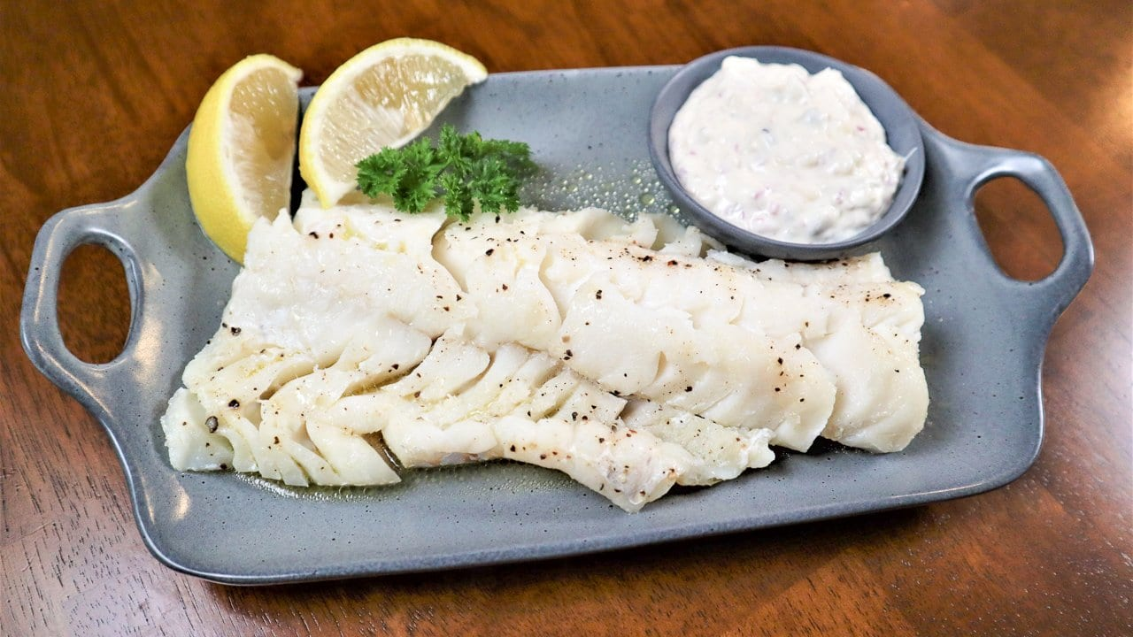 grilled haddock on a plate