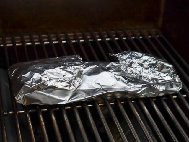 haddock being grilled in tinfoil