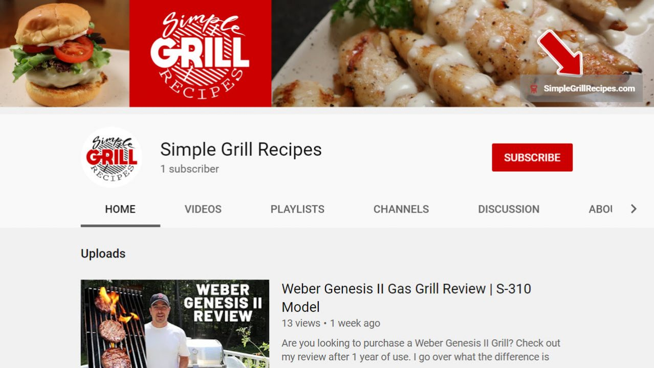 image of simple grill recipes youtube channel