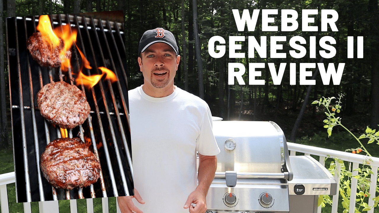 Image of the reviewer with the grill in the background