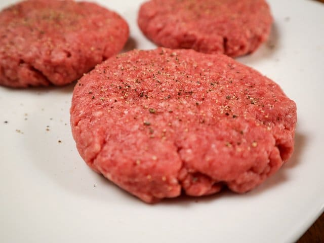 burgers with salt and pepper