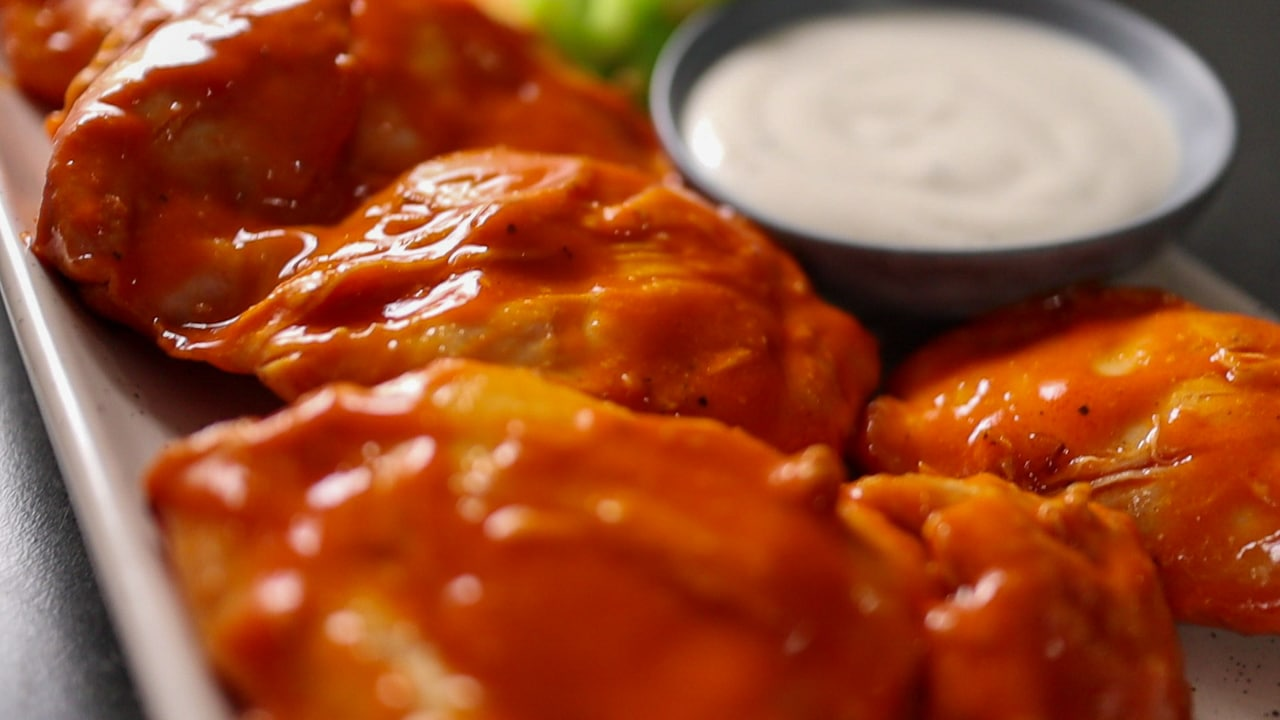 image of buffalo chicken thighs