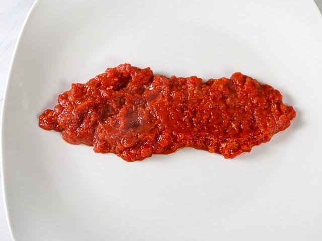 marinara on a plate