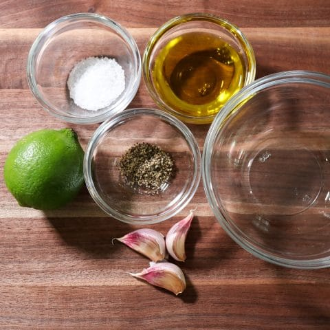 ingredients to make the marinade