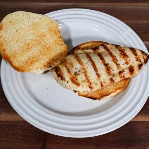 grilled chicken on a bun