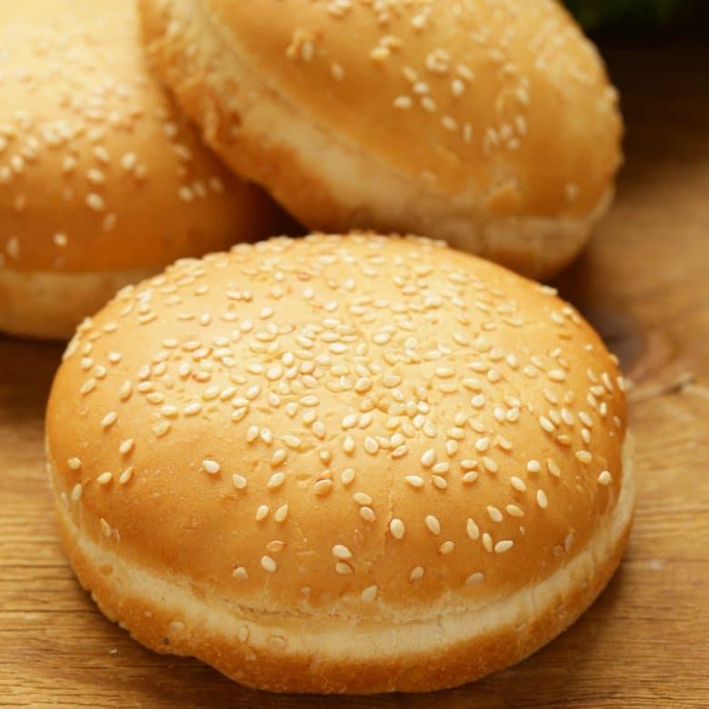 A classic sesame hamburger bun